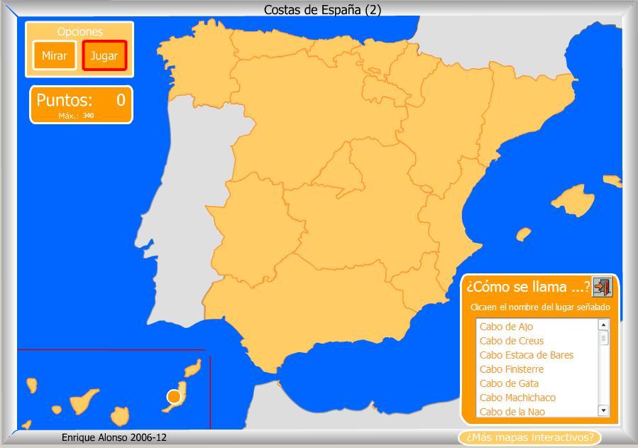 Mapas fsicos de Espaa  La clase de Ral  Salesianos Santander