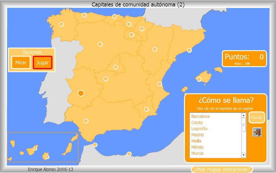 Mapas interactivos de Espaa  La clase de Ral  Salesianos Santander
